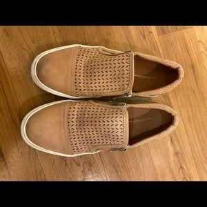 Report Tan Slip On Zip Up Tennis Shoes